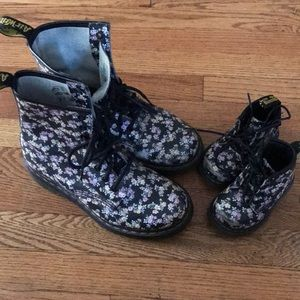 Mommy and me Floral Doc Martens